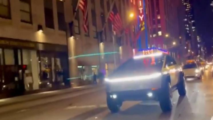 Tesla Cybertruck Takes a Stroll Down New York City