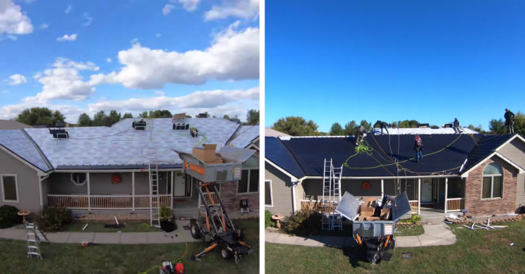 Watch Time Lapse of 4-Day Tesla Solar Roof Installation