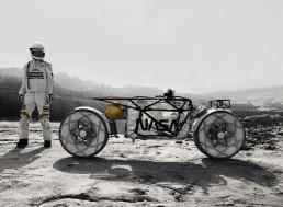 Step Aside Moon Buggy, the World's First Moon Motorcycle Concept Is Here