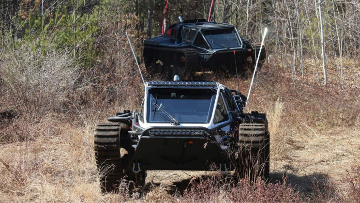 The Ripsaw EV3 F4 Is The World's Fastest Dual-Tracked Commercial Vehicle