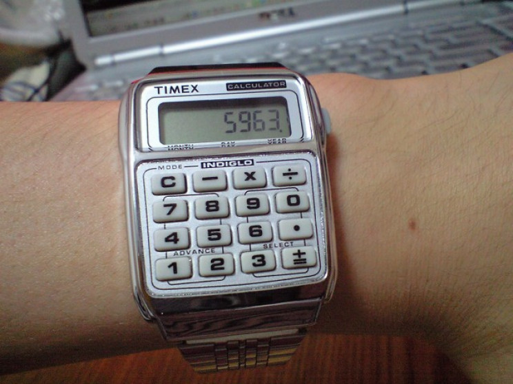 70s and 80s tech toys calculator watch