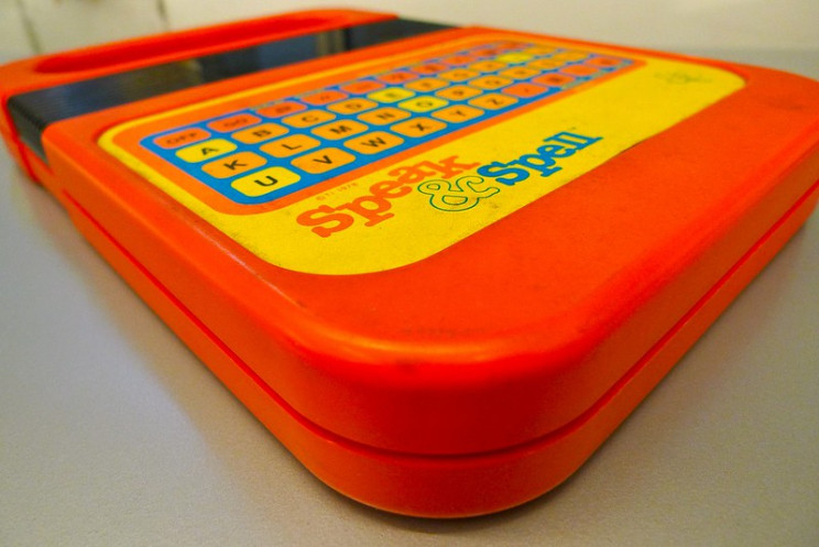70s 80s tech toys speak and spell