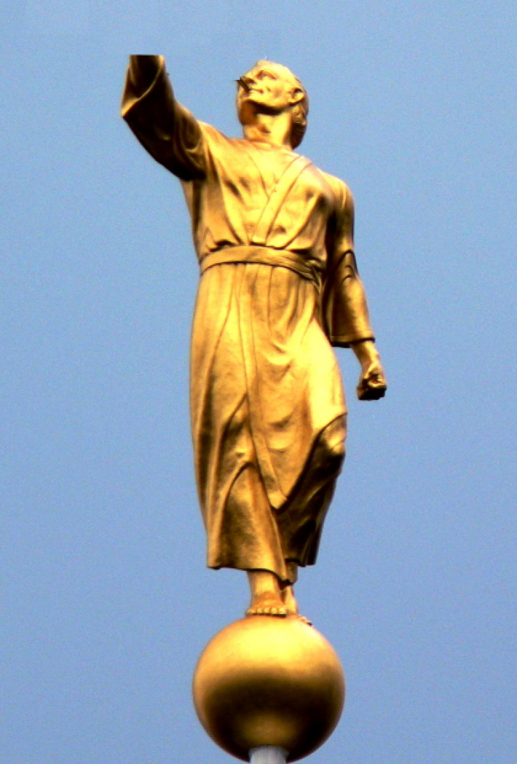 Statue atop the Salt Lake City Temple