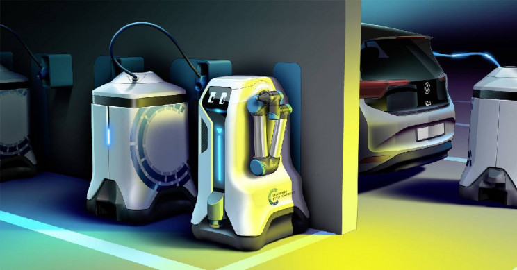Volkswagen's Cute Robot Will Find Your Car to Charge It