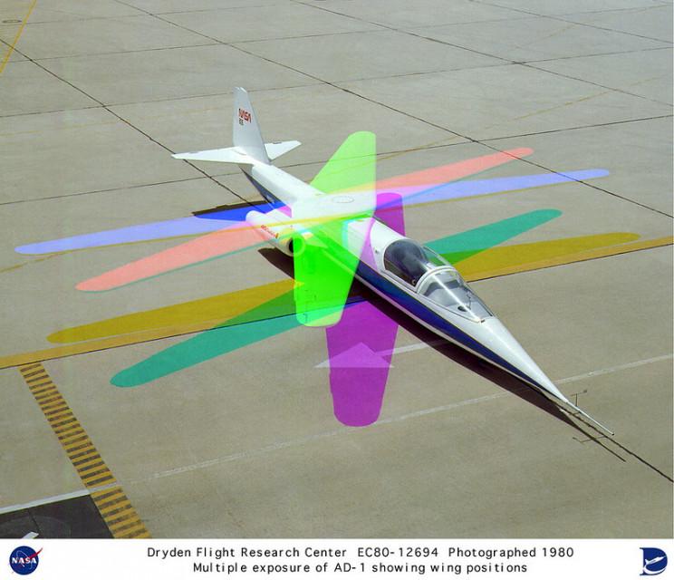 NASA AD-1 wings