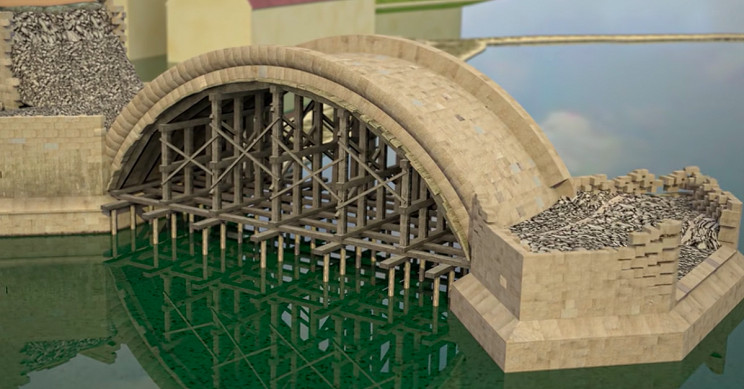 Animation Shows How Bridges Were Built in 14th Century