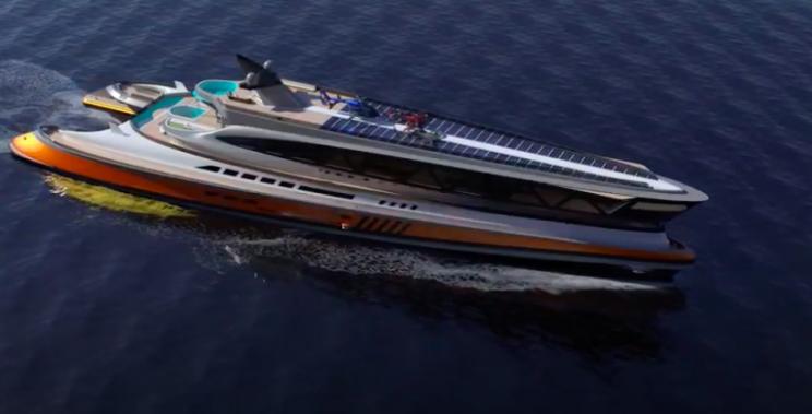 Design Studio Unveils Shark-Shaped 501-Foot Mega Yacht Concept