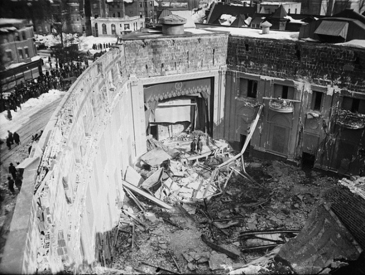 Knickerbocker Theater after collapse