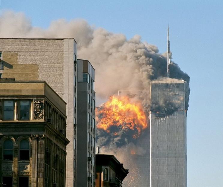 World Trade Center after first impact