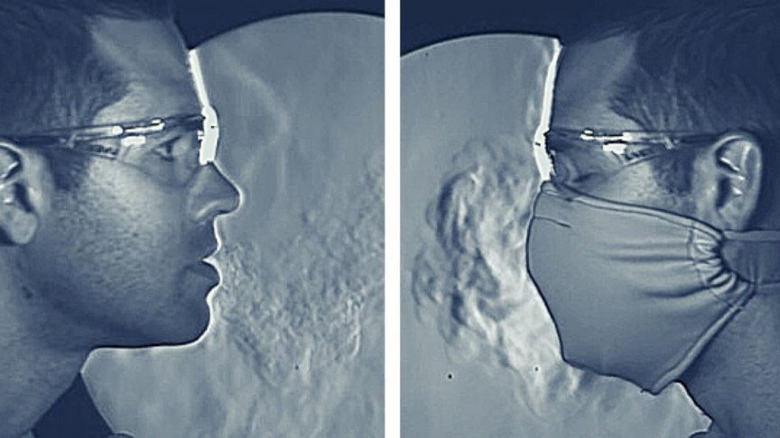 Slow-Motion Video Contrasts Mask Effectiveness Against Spread of COVID-19