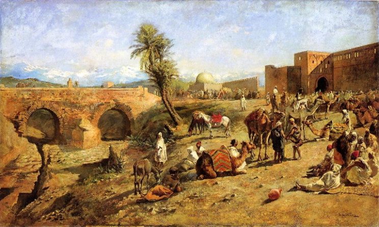 Caravan outside Morocco