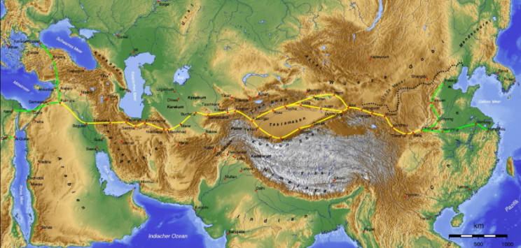 Extent of the Silk Road