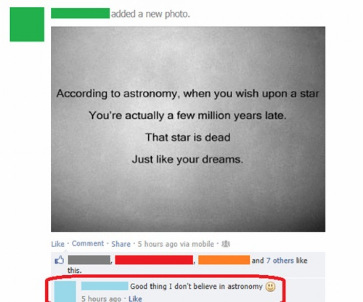 astronomy fails nihilism