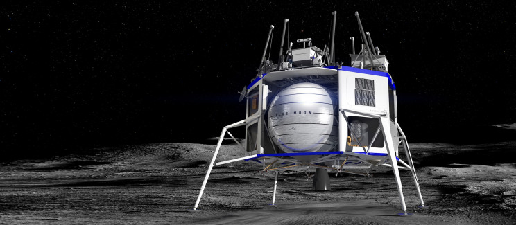 Bezos' Blue Origin Creates Team to Build Lunar Lander for NASA