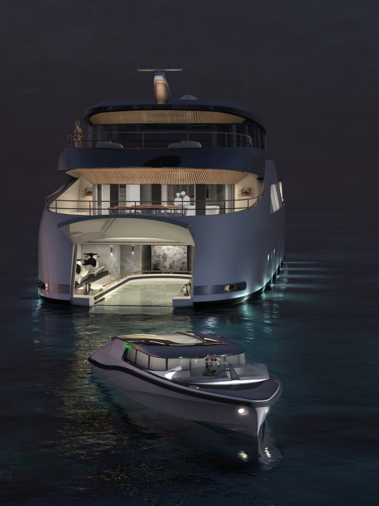 A new concept for an electric superyacht takes Star Wars into a world of zero emissions