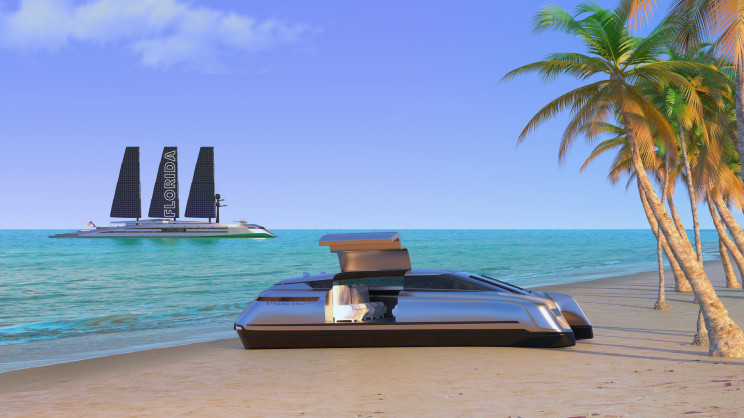 This 525-Foot Superyacht With Solar Sails Doesn't Require Any Wind