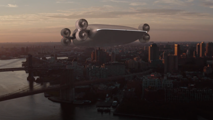 UFO-Like eVTOL Concept Carries 40 Passengers From LA to SF in an Hour