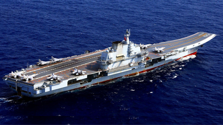 Watch China's First Aircraft Carrier Recover a Strike Fighter