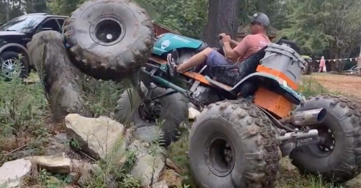 Off-Road Converted Lawn Mower Goes the Distance with 38-Inch Tires