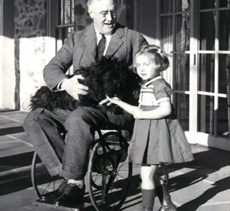 FDR in wheelchair