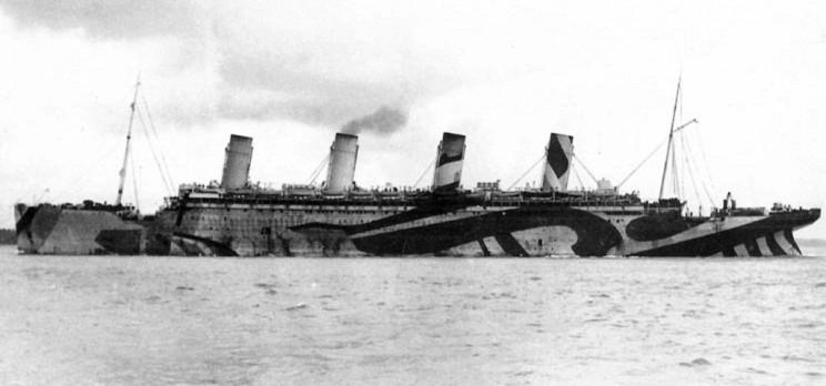 dazzle camo HMS Olympic