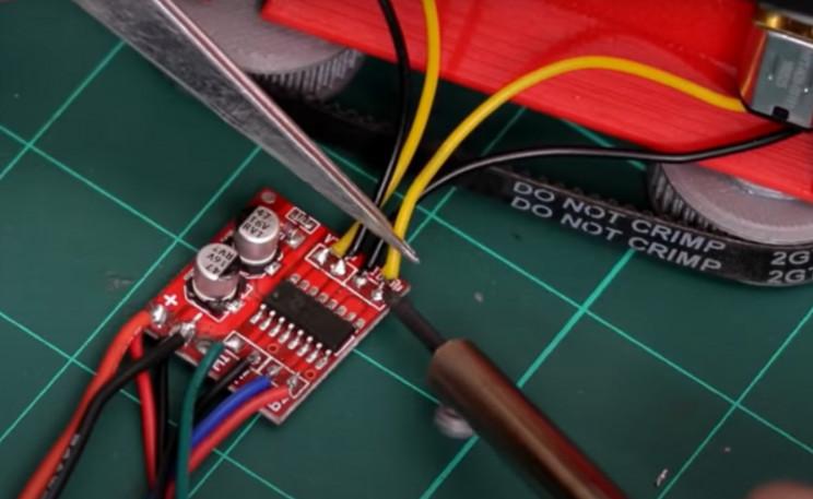diy mini tank motor wiring