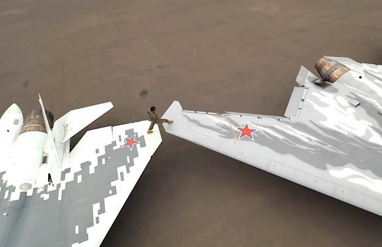Russian Drone Fighter Wing Walk