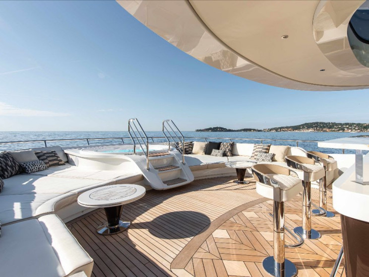 41-Meter Golden-Hulled Superyacht Stands Out From the Crowd