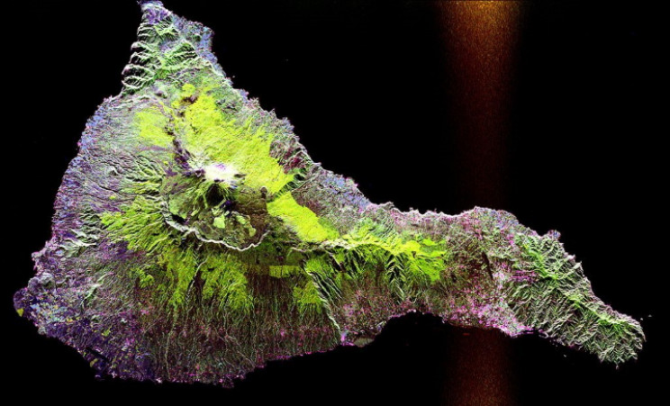 SAR image of the Teidi volcano, Tenerife