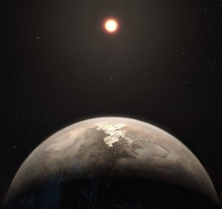 Planet surrounding a quiet red dwarf