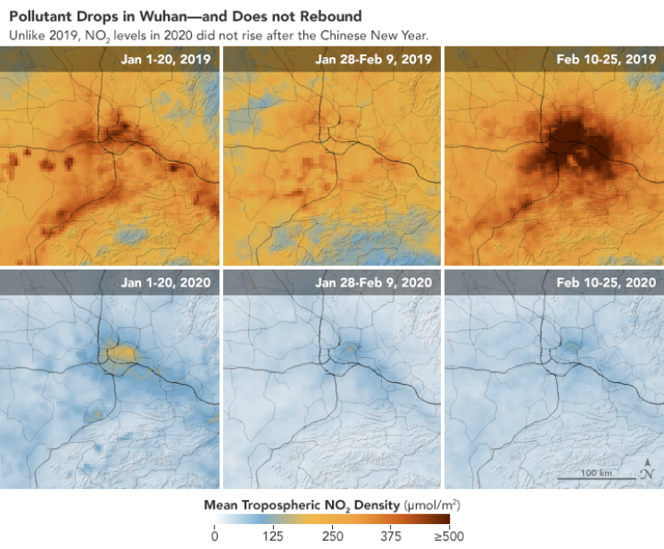 NASA Space Images Show Chinese Pollution Drop Due to the Coronavirus Outbreak