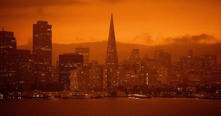 Apocalyptic Orange Skies Loom over California