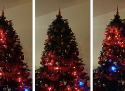 Engineer Programmed His Christmas Tree Lights to Play a Giant Game of Snake