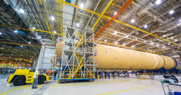 NASA Places Final Parts on Its Space Launch System Due to Send a Rocket to the Moon