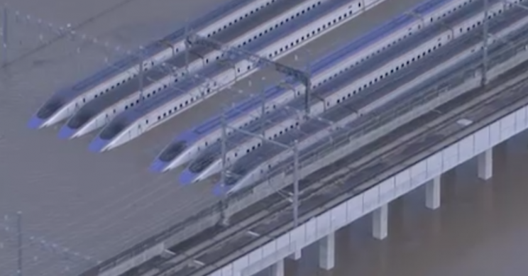 The damaged carriages account for about a third of the entire bullet train fleet.