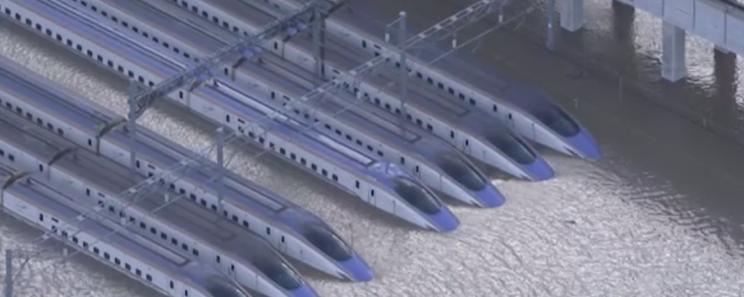 Typhoon Hagibis Severely Damages Fleet of $300 Million Bullet Trains