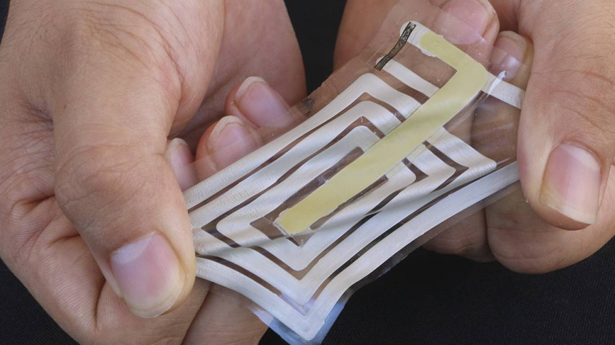 These Band-aid-Like Wireless Sensors Track Your Health