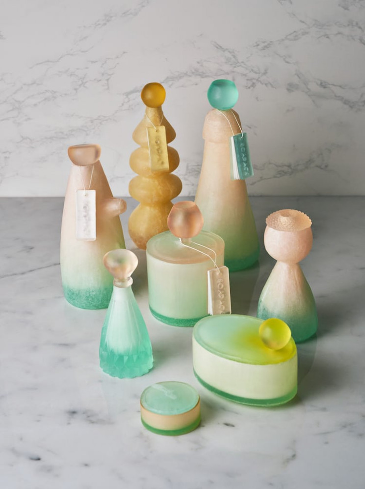 Stylish and Eco-Friendly Packaging and Bottles Made Entirely of Soap Instead of Plastic