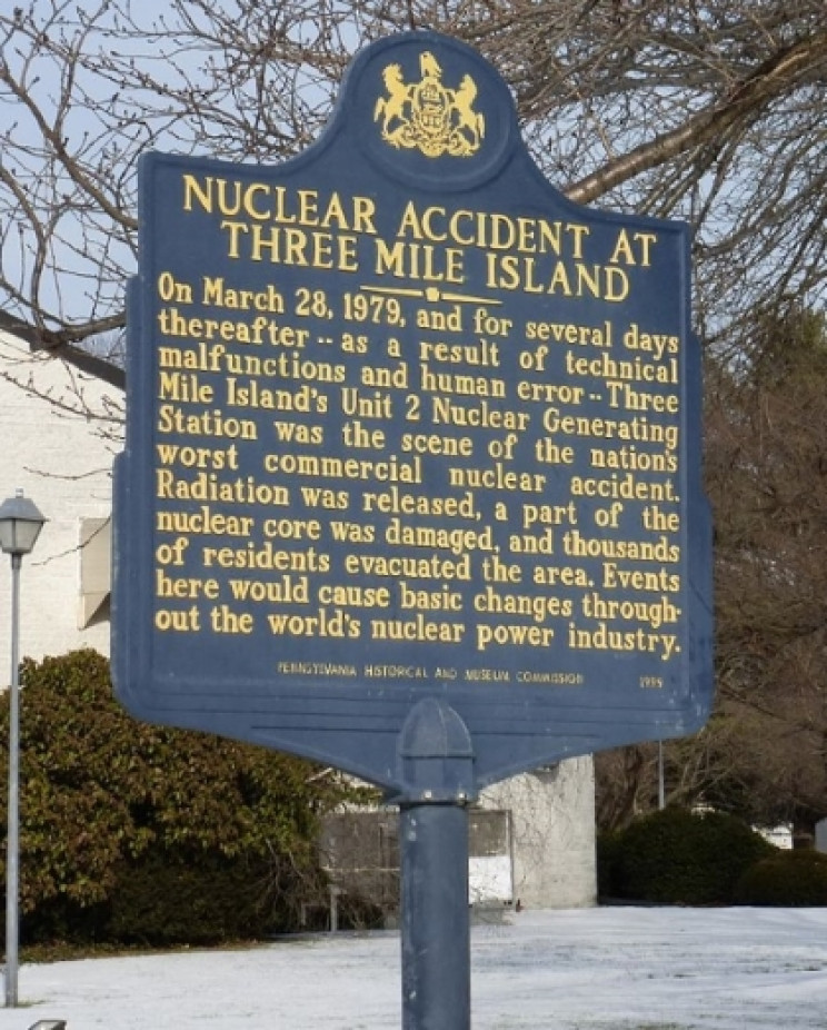 Three Mile Island accident marker