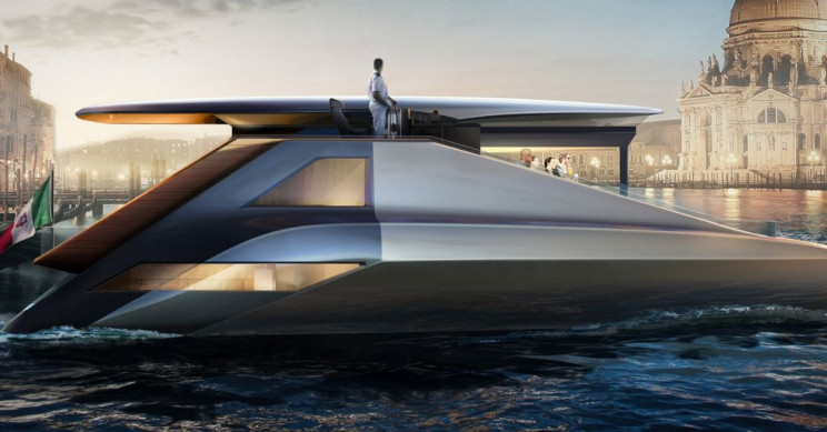 This New Lopsided Electric Yacht Debuts Fibonacci Design