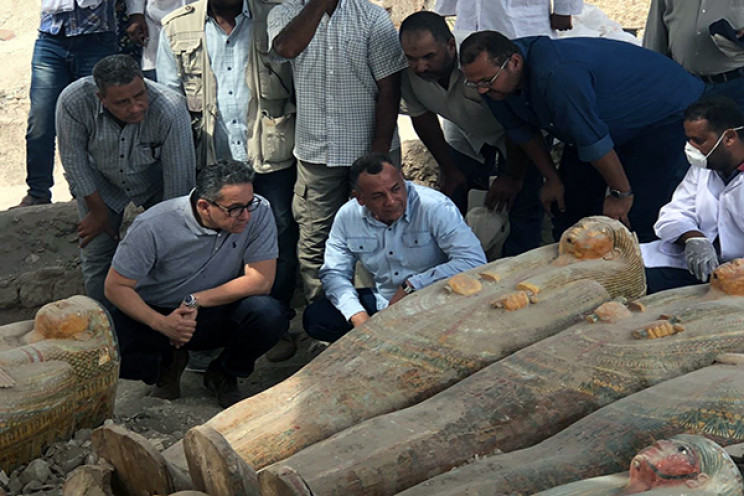 Coffins found in Egypt