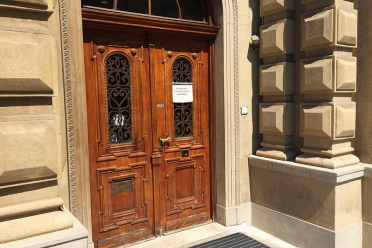 tesla museum entrance