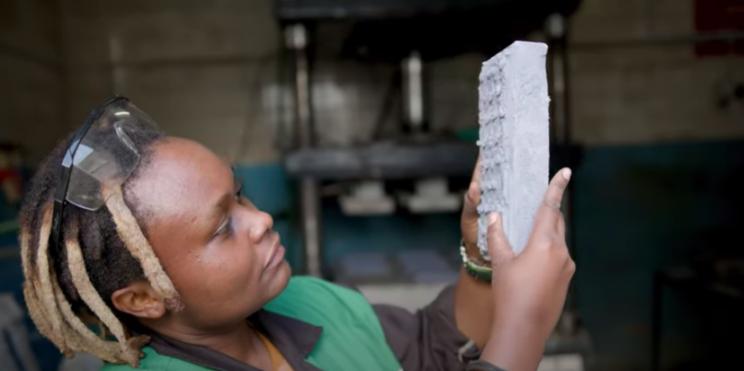 Kenyan Entrepreneur Transforms Plastic Waste into Bricks