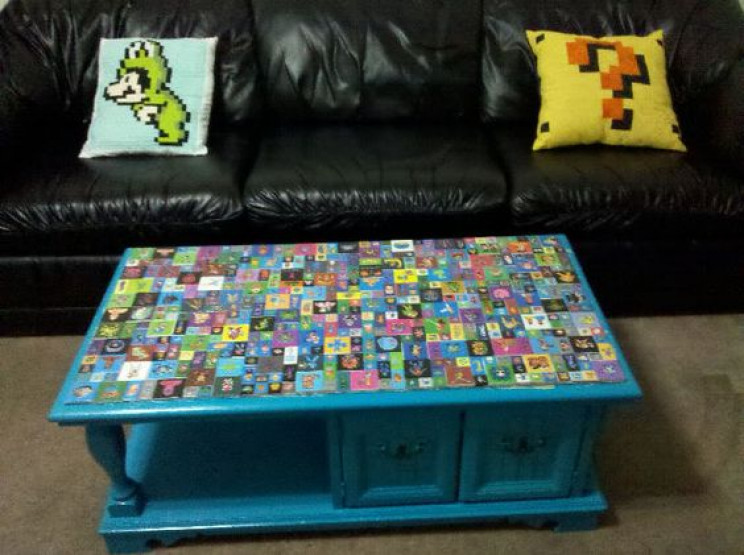 gamer diy projects coffee table