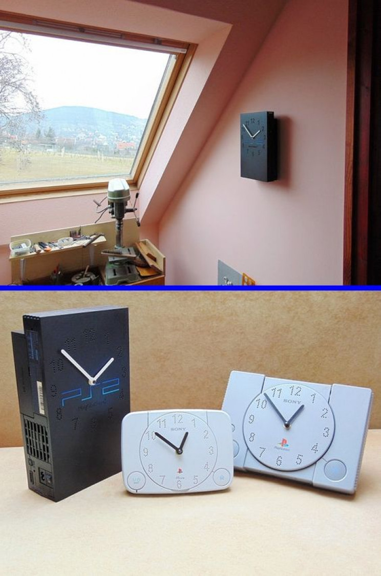 gamer diy console clocks