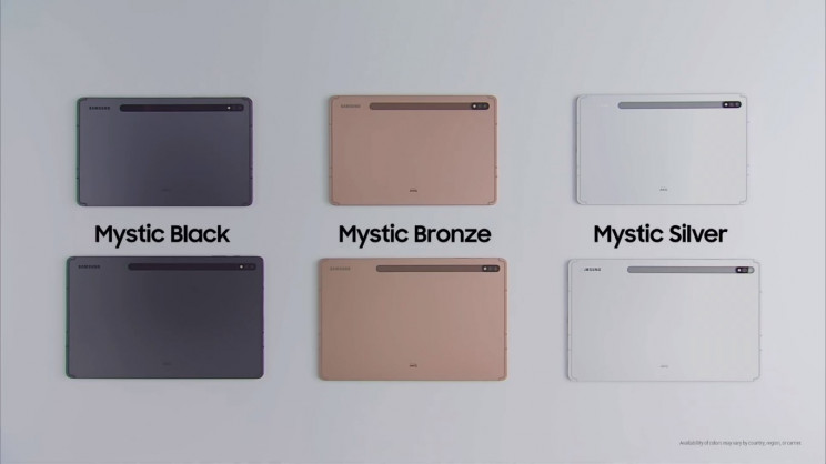 Samsung Galaxy Tab S7 Colors