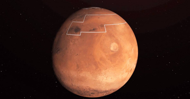 NASA unveils map of most accessible water ice on Mars