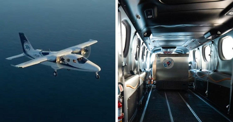Italian Company Remodels Plane to Transport COVID-19 Vaccines Worldwide