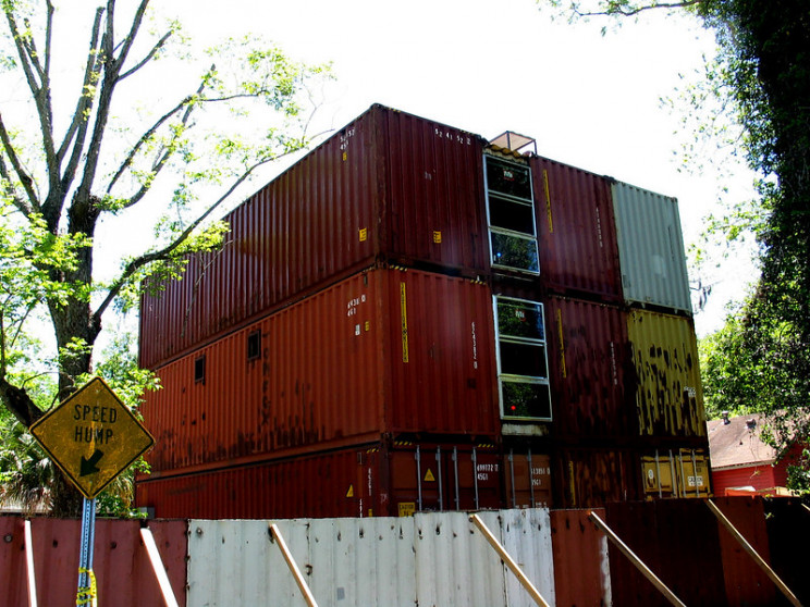 shipping container buildings example