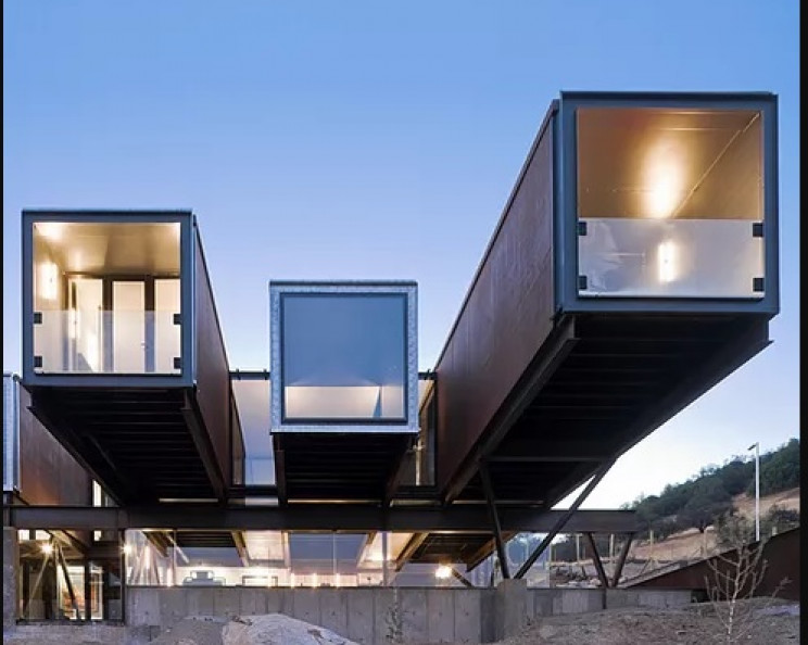 shipping container house caterpillar